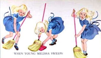When Young Melissa Sweeps, illustration by Meg Wohberg