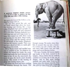 Photo of page about elephants from Childcraft, volume seven