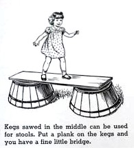 Using kegs to create a bridge