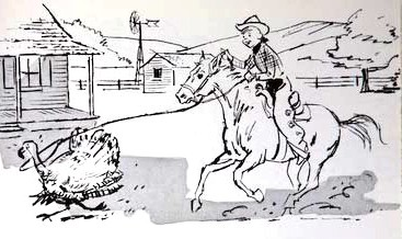 Charles Gabriel illustration for Will Rogers: Immortal Cowboy