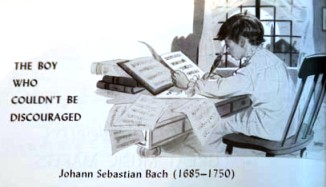 Illustration of Johann Sebastian Bach as a child