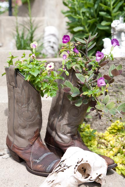 boots as planters